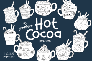 Print on Demand: Hot Cocoa Mugs - Outlines Graphic Illustrations By DigitalPapers