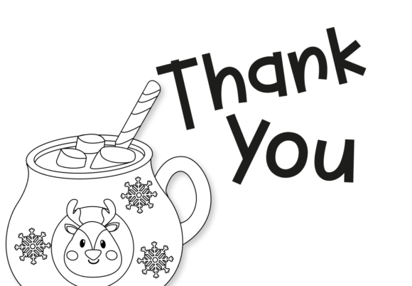 Hot Cocoa Mugs - Outlines Graphic Item