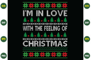 Print on Demand: I'm in Love Christmas Sweater Graphic Crafts By BDB_Graphics