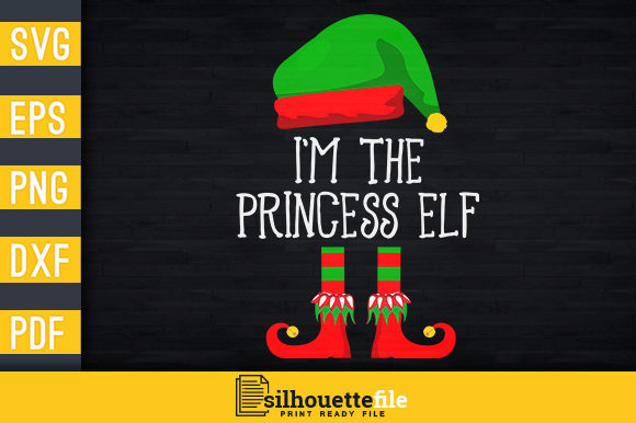Print on Demand: I'm the Princess Elf Graphic Print Templates By Silhouettefile
