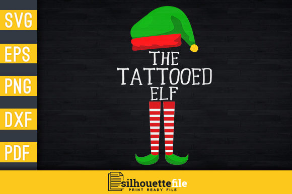 Print on Demand: I'm the Tattoed Elf Graphic Print Templates By Silhouettefile