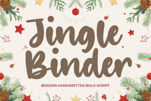 Print on Demand: Jingle Binder Script & Handwritten Font By Balpirick