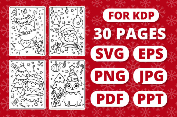 Print on Demand: KDP Christmas Coloring Book for Kids #1 Gráfico Coloring Pages & Books Kids Por RefreshUp