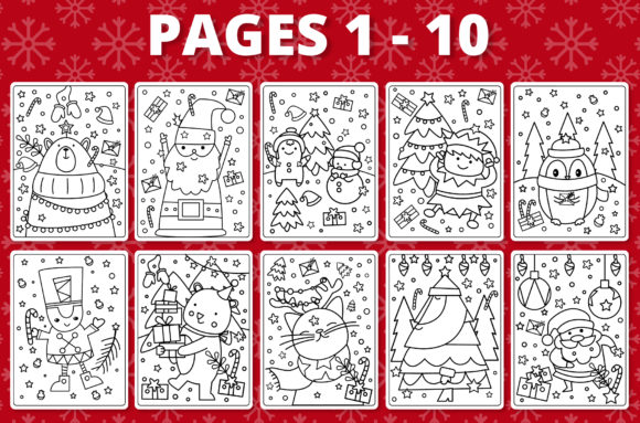 - KDP Christmas Coloring Book For Kids #1 (Graphic) By RefreshUp · Creative  Fabrica