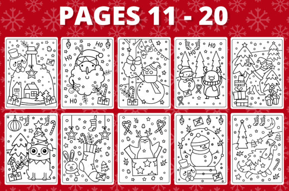 KDP Christmas Coloring Book for Kids #1 Graphic Item