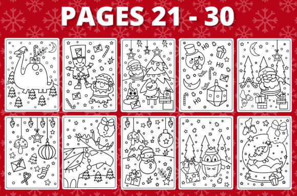 KDP Christmas Coloring Book for Kids #1 Graphic Design