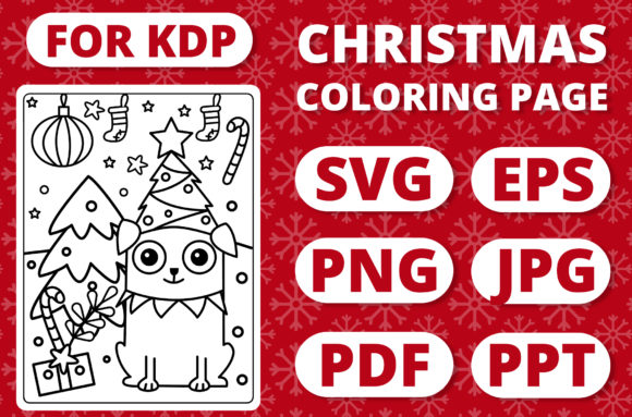 KDP Christmas Coloring Page for Kids #16 Graphic