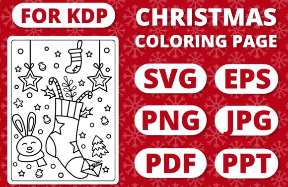 Print on Demand: KDP Christmas Coloring Page for Kids #17 Graphic Coloring Pages & Books Kids By RefreshUp