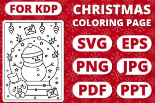 Print on Demand: KDP Christmas Coloring Page for Kids #19 Graphic Coloring Pages & Books Kids By RefreshUp