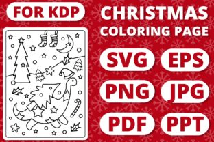 Print on Demand: KDP Christmas Coloring Page for Kids #20 Graphic Coloring Pages & Books Kids By RefreshUp