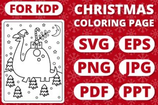 Print on Demand: KDP Christmas Coloring Page for Kids #21 Graphic Coloring Pages & Books Kids By RefreshUp