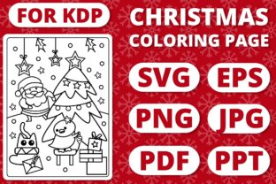 Print on Demand: KDP Christmas Coloring Page for Kids #23 Graphic Coloring Pages & Books Kids By RefreshUp