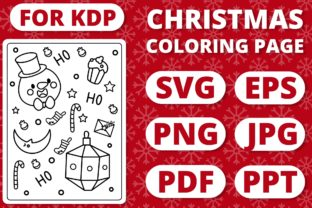 Print on Demand: KDP Christmas Coloring Page for Kids #24 Graphic Coloring Pages & Books Kids By RefreshUp
