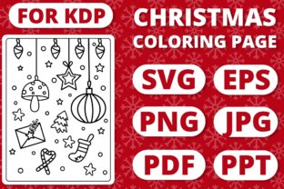 Print on Demand: KDP Christmas Coloring Page for Kids #25 Graphic Coloring Pages & Books Kids By RefreshUp