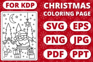 Print on Demand: KDP Christmas Coloring Page for Kids #26 Graphic Coloring Pages & Books Kids By RefreshUp