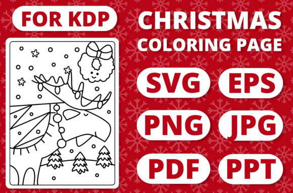 Print on Demand: KDP Christmas Coloring Page for Kids #27 Graphic Coloring Pages & Books Kids By RefreshUp