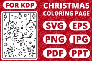 Print on Demand: KDP Christmas Coloring Page for Kids #28 Graphic Coloring Pages & Books Kids By RefreshUp