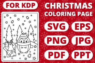 Print on Demand: KDP Christmas Coloring Page for Kids #29 Graphic Coloring Pages & Books Kids By RefreshUp