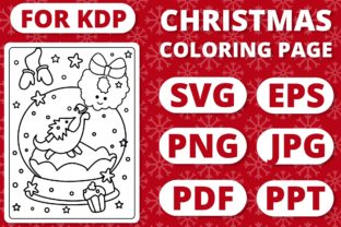 Print on Demand: KDP Christmas Coloring Page for Kids #30 Graphic Coloring Pages & Books Kids By RefreshUp