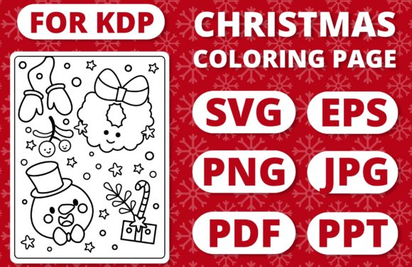 Print on Demand: KDP Christmas Coloring Page for Kids #31 Graphic Coloring Pages & Books Kids By RefreshUp