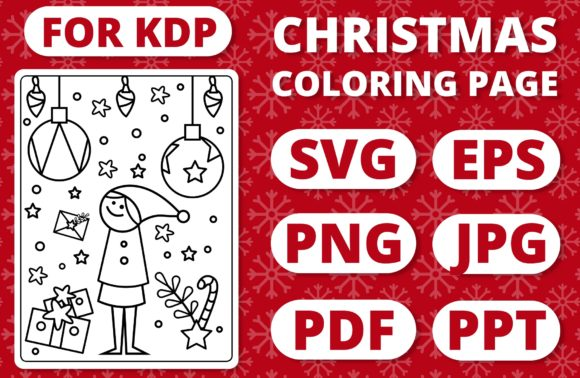 Print on Demand: KDP Christmas Coloring Page for Kids #32 Graphic Coloring Pages & Books Kids By RefreshUp