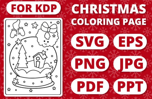 Print on Demand: KDP Christmas Coloring Page for Kids #33 Graphic Coloring Pages & Books Kids By RefreshUp