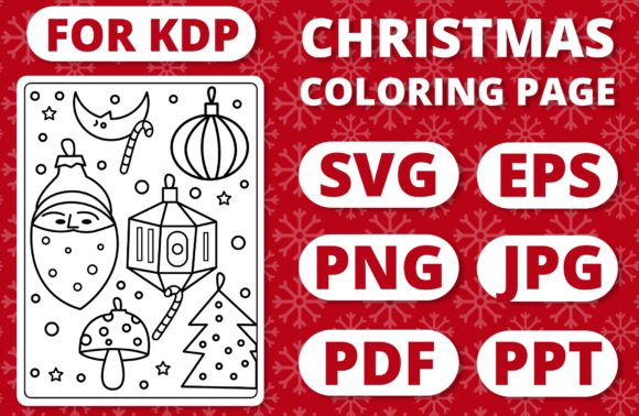 Print on Demand: KDP Christmas Coloring Page for Kids #34 Graphic Coloring Pages & Books Kids By RefreshUp