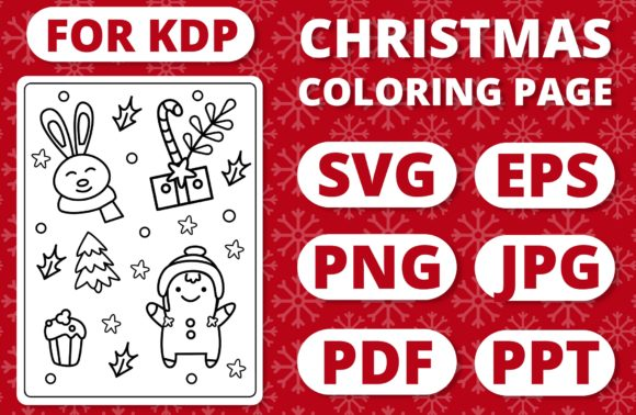 Print on Demand: KDP Christmas Coloring Page for Kids #35 Graphic Coloring Pages & Books Kids By RefreshUp