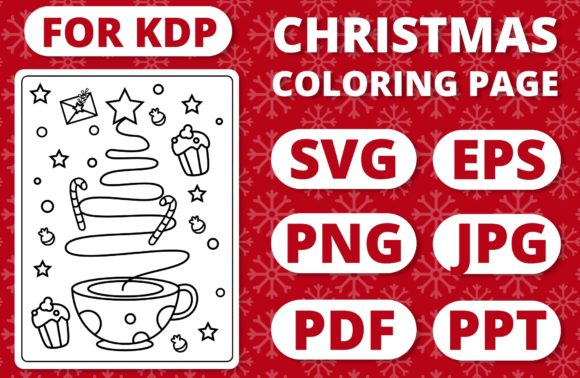 Print on Demand: KDP Christmas Coloring Page for Kids #36 Graphic Coloring Pages & Books Kids By RefreshUp