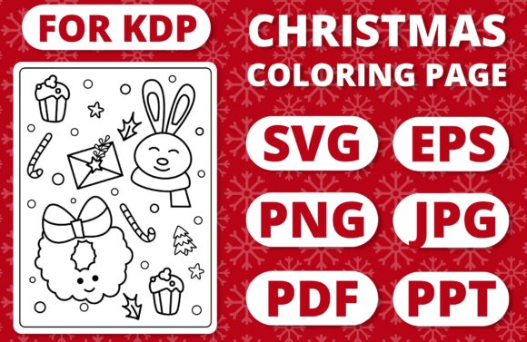 Print on Demand: KDP Christmas Coloring Page for Kids #37 Graphic Coloring Pages & Books Kids By RefreshUp