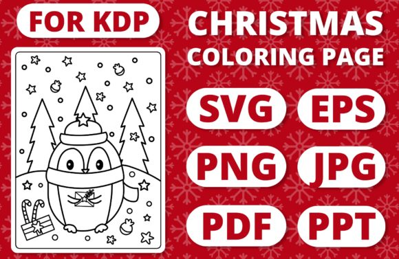 Print on Demand: KDP Christmas Coloring Page for Kids #5 Graphic Coloring Pages & Books Kids By RefreshUp