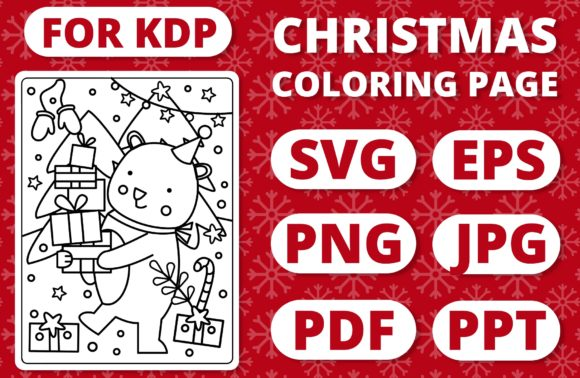 Print on Demand: KDP Christmas Coloring Page for Kids #7 Graphic Coloring Pages & Books Kids By RefreshUp