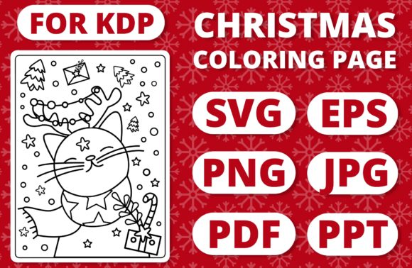 Print on Demand: KDP Christmas Coloring Page for Kids #8 Graphic Coloring Pages & Books Kids By RefreshUp