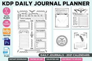 Print on Demand: KDP Editable Daily Journal Planner Vol.2 Graphic KDP Interiors By Queen Dreams Store