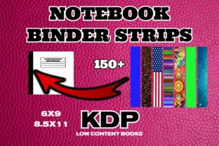 KDP Pre-Made Artistic Binder Strips Graphic Graphic Templates By .99 Cent Digital Products