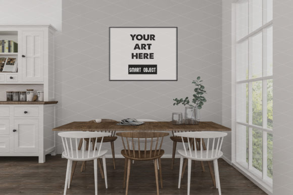 Kitchen, Dining Room Graphic Product Mockups By Elmil Design