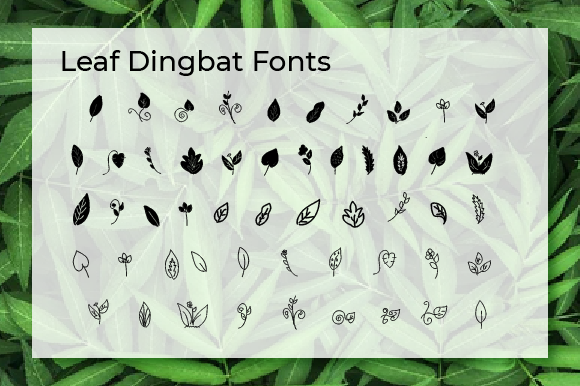 Print on Demand: Leaf Dingbats Font By Yafont