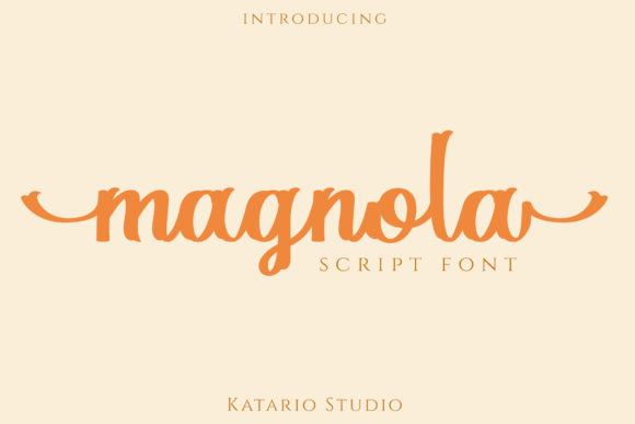 Print on Demand: Magnola Script & Handwritten Font By Katario Studio