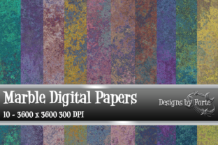 Print on Demand: Marble Metal Digital Papers Graphic Textures By Heidi Vargas-Smith