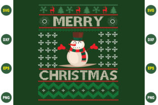 Print on Demand: Merry Christmas Sweater Design Graphic Crafts By BDB_Graphics