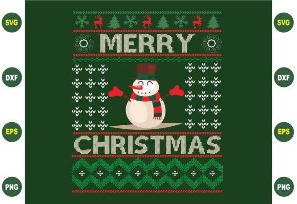 Merry Christmas Sweater Design Graphic Crafts By BDB_Graphics