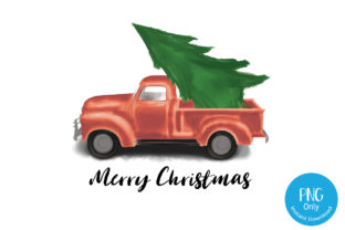 Merry Christmas Truck PNG Sublimation Graphic Crafts By Tori Designs