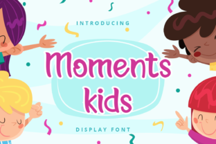 Print on Demand: Moments Kids Display Font By Planetz studio