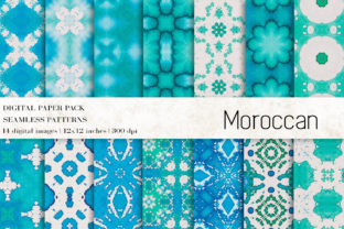 Moroccan Digital Papers Graphic Patterns By BonaDesigns