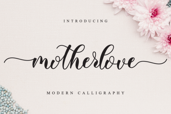 Print on Demand: Motherlove Script & Handwritten Font By NissaStudio