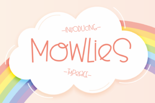 Print on Demand: Mowlies Display Font By Dani (7NTypes)