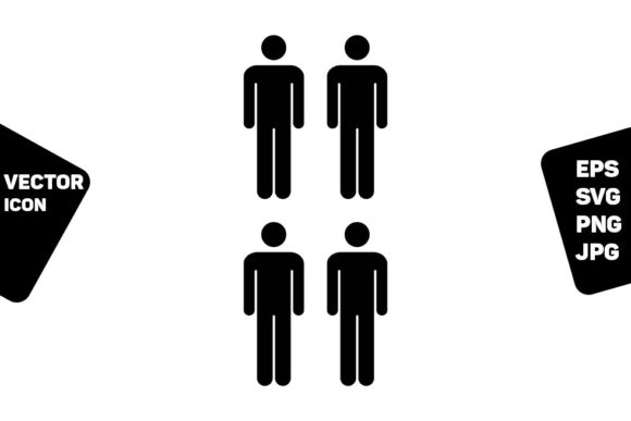 Print on Demand: Network Icon Vector Male Group of Person Graphic Icons By TukTuk Design