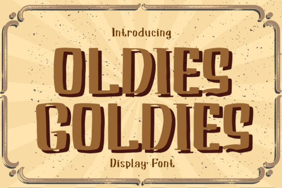 Print on Demand: Oldies Goldies Display Font By boogaletter