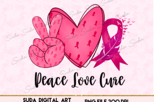 Print on Demand: Peace Love Cancer Sublimation Graphic Illustrations By Suda Digital Art