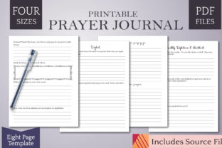 Print on Demand: Prayer Journal Template W/ Affinity File Graphic KDP Interiors By Digital Town